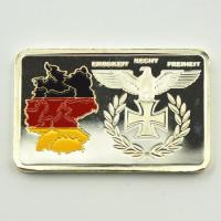 Buy cheap 999.9 Replica Silver Bars/Coins Germany Territory/Eagle Painted Silver Bullion Bar 1 oz silver Plated For Collection from wholesalers