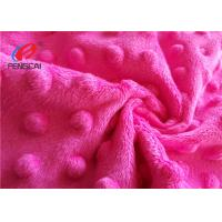 Buy cheap 100% Polyester Minky Plush Fabric / Minky Dot Blanket Fabric For Making Baby Blankets from wholesalers