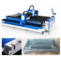 Buy cheap SS Pipes 3D Laser Cutting Machine / 3 Axis Fiber Sheet Metal Cutter from wholesalers