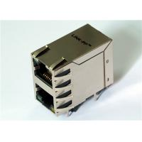 Buy cheap 2x1 Port Stacked HR862101H Rj45 Right Angle100M Transformer LPJ17634AENL from wholesalers