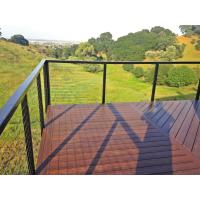 Buy cheap Black Stainless steel inox railing cable railing with top handrail for terrace/ deck product
