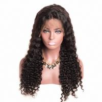 Buy cheap Lace Front Wig Deep Wave Lace Frontal Wig Brazilian Remy Human Hair Wig from wholesalers