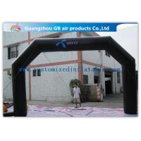 Buy cheap Black Custom Inflatable Arch For Advertisement /  PVC Blow Up Arch product