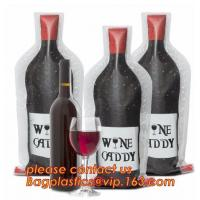Buy cheap Zip sealed liquor bubble bags bottle protector Travelling liquor bubble sleeves air wine bubble bags Zipped bottom plast from wholesalers