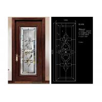 Buy cheap Classical Color Door Art Glass Panels Thermal Sound Insulation Various Shape from wholesalers