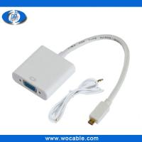 Buy cheap Micro HDMI to VGA Cable with Audio Output from wholesalers