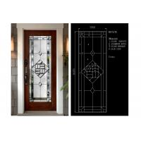 Buy cheap Flat Edge Inlay Decorative Panel Glass Insulated / Bevelled / Polished from wholesalers