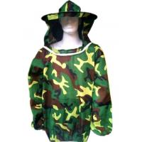 Buy cheap Free Size Polyester Camouflage Beekeeping Jacket With Protective Bee hat from wholesalers