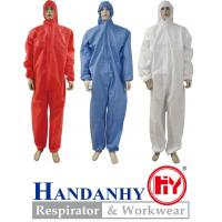 Buy cheap Type 5/6 coverall, SMS coverall, SMMS coverall, SMMMS coverall from wholesalers