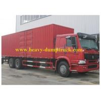Buy cheap Sinotruk 6X4 266 hp Refrigerated Box Truck 25 T 8CM  polyurethane foam from wholesalers