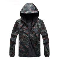 Buy cheap Cheap All Black Pullover Windbreak 100% Polyester Camouflage Waterproof Camo Men Sport Jacket from wholesalers