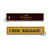 Buy cheap Etihad Airways Crew Baggage Keyrings Personalized Promotional Key Tags Fobs Wholesale China from wholesalers