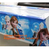 Buy cheap Ice And Snow Baby Favor Decoration princess Party Tablecover Supply, Hot Sale party plastic tablecover supplies kids bir from wholesalers