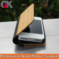 Buy cheap Custom Leather Phone Cases, bamboo leather cell phone cases from wholesalers