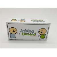 Buy cheap Laminated Type Joking Hazard Card Games For Teens Recyclable Waterproof product
