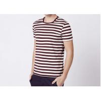Buy cheap Three Colors 100% Cotton Striped T Shirt Mens Short Sleeve Comfortable Fabric from wholesalers