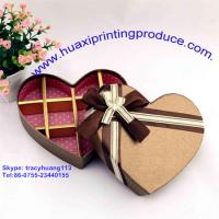 Buy cheap Heart-Shaped  Chocolate Boxes with Ribbon from wholesalers