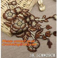 Buy cheap Lace Collar Applique Neckline Lace Crochet Flower Motif Patchwork Sewing Access from wholesalers