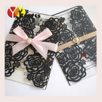 Buy cheap Luxury black wedding invitation card arabic rose conference invitation card from wholesalers