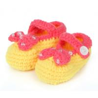 Buy cheap handmade infant crochet booties baby 3D wholesale sock from wholesalers