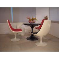 Buy cheap Replica White Color Bar Stool Table And Chairs Full Fiberglass Swivel Base Tulip Shape from wholesalers