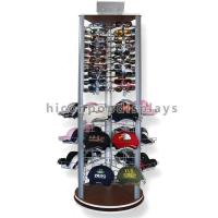 Buy cheap Fashion Store Rotating Outdoor Sports Product Display Stands / Racks Wood Base from wholesalers