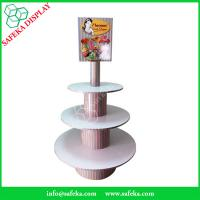 Buy cheap POS paper material paperboard shelf printed  three tiers cupcake display racks from wholesalers