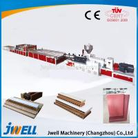 Buy cheap PVC Porfile Plastic Hollow Cross Section Plate Extrusion Production Line from wholesalers