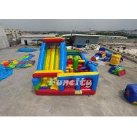 Buy cheap Customized Inflatable Obstacle Castle Size 9m*5m*5m With 0.55 Mm Pvc Tarpaulin from wholesalers