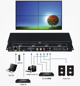 Buy cheap HDMI 1080P Video Wall  Controller and VGA Video Wall Controller and support USB product