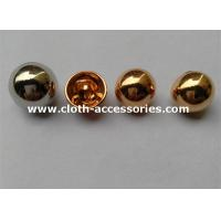 Buy cheap Decorative Metal Shank Button / Waterproof Round Blouse Sew Button from wholesalers