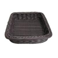 Buy cheap Poly Wicker Fruit Food Shelf Storage Baskets Square Water Proof Handmade from wholesalers