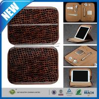 Buy cheap Leather Laptop Bag , Padfolio Leather Cell Phone Cover For Ipad Travel Bag With Pocket from wholesalers