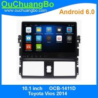 Buy cheap Ouchuangbo 1024*600 Touch Screen Car DVD Player android 6.0 for Toyota Vios 2014 with 3G WIFI Radio Stereo GPS DVR from wholesalers