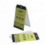 Buy cheap Printable Logo Custom Printed Paper Tags / Kraft Hang Tags With Eyelets from wholesalers