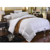 Buy cheap 100% Cotton White Hotel Bedding Duvet Microfiber / Hollofiber / Down / Feather Filling from wholesalers