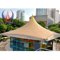 Buy cheap Practical Tensioned Membrane Structures White Woven Fabric Covered Buildings For Structural Systems from Wholesalers