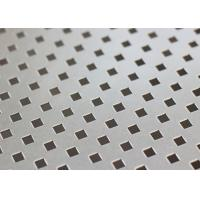Buy cheap ISO9001 Decorative Perforated Metal Sheet Plain Weave Style 1.22x2.44m Panel Size from wholesalers