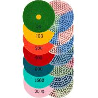 Buy cheap Round Shape Diamond Resin Polishing Pads Wear Resistance Three Color In One from wholesalers