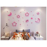 Buy cheap 3D stereo stars and moon creative wall stickers kid bedroom wall sticker wall decorative decor desk room from wholesalers