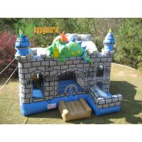 Buy cheap Dragon Garden 3 In 1 Inflatable Combo , Party Castle Bounce House For Kids from wholesalers