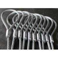 China Heavy Duty Machine Swaged Soft Loop Wire Rope Slings with Galvanized Surface on sale