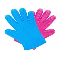 Buy cheap Water Proof Plastic Pet Products 27CM Five Finger Massage Glove Custom Color from wholesalers