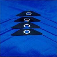 Buy cheap PE tarpaulin blue 150gsm with eyelets and reinforced corner from wholesalers