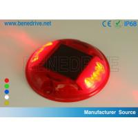 Buy cheap Round Plastic Barricade Lights, For Traffic Safety Using Sustainable Solar Energy Strong PC Shell from wholesalers