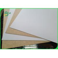 Buy cheap 450gsm  FSC Certified Clay Coated Kraft Back Food Grade Paper Roll / White Liner Paper For Packing from wholesalers