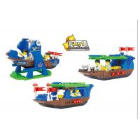 Plastic Children's Construction Building Blocks Toy Movable Pirate Ship