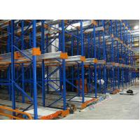 Freezers Radio Shuttle Racking 2 Aisles Heavy Load Industrial Pallet Racks Customized