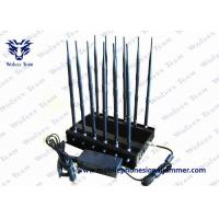 Buy cheap 12 Band Jammer GSM DCS Rebolabile 3G 4G WIFI GPS and RF Bugs from 130 to 500 Mhz product