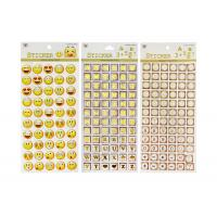 Buy cheap Adhesive Kids Sticker Printing Smily Face Emoji Or Letter Symbols Patten from wholesalers